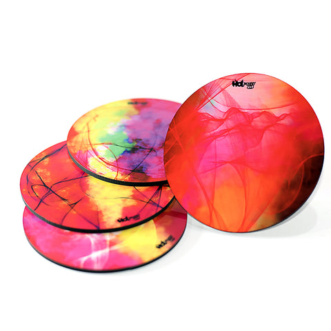 Smokin Colors - Round Coasters (Set of 4)