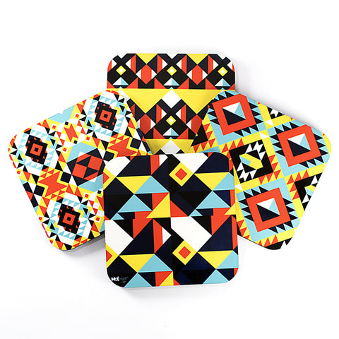 Patterns Geom - Coasters (Set of 4)