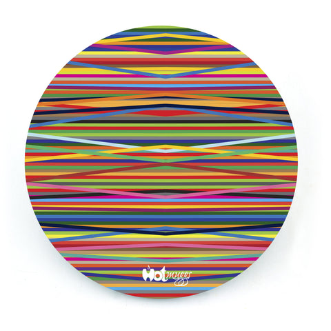 Colors Bands - Round Coaster (Single)