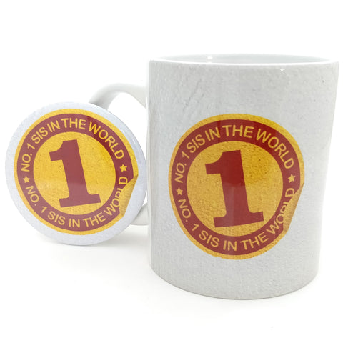 No.1 Sis In The World Ceramic Mug