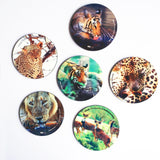 "Hot Muggs ""The Animal World"" MDF (Recycled Wood) Coasters; Set of 6 - Hot Muggs - 1"
