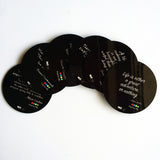 "Hot Muggs ""Inspiration Quotes - Collection 1"" MDF (Recycled Wood) Coasters; Set of 6 Unique Designs - Hot Muggs"