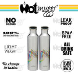 Classic Fridge Stainless Steel Bottles, 1 litre, 2 Pieces