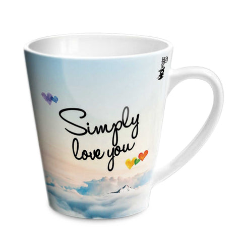 Simply Love You Vasu Conical Ceramic Mug 350ml