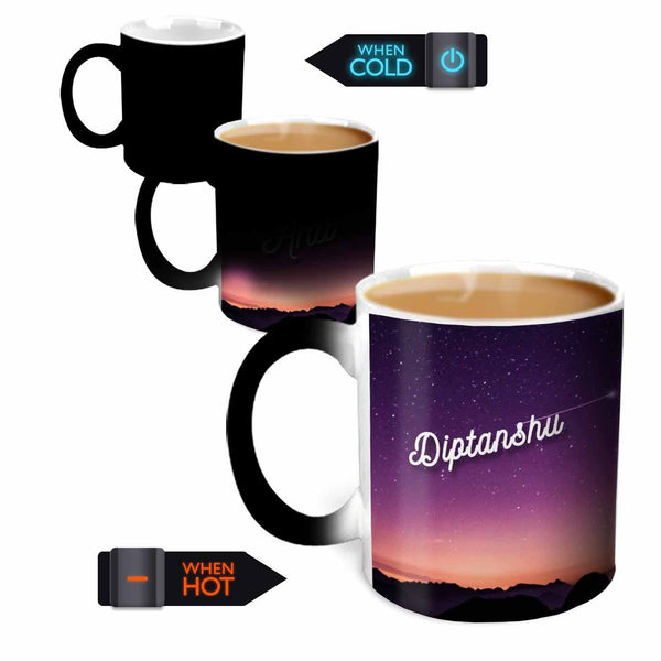 Hot MuggsYou're the Magic… Diptanshu Magic  Color Changing Ceramic Mug 315ml, 1 Pc