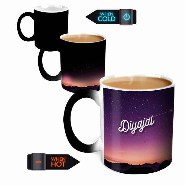 Hot MuggsYou're the Magic… Diyajal Magic  Color Changing Ceramic Mug 315ml, 1 Pc