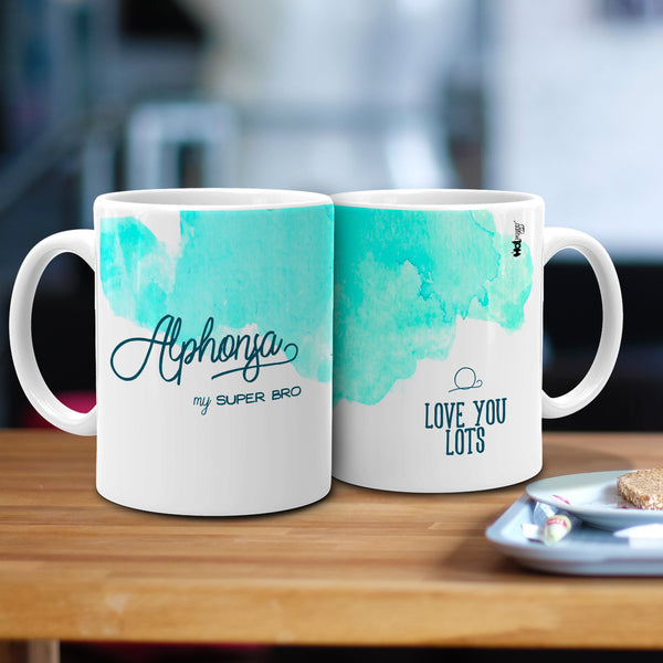 """Alphonsa"" - My Super Bro Ceramic Mug, 350ml, 1 Pc"""
