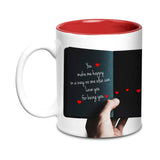 Floral Poem Ceramic Mug,350ml