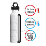 Me Insulated Graffiti Bottle - Sinhvahan Personalised Name , Steel, 500 ml, 1 Unit