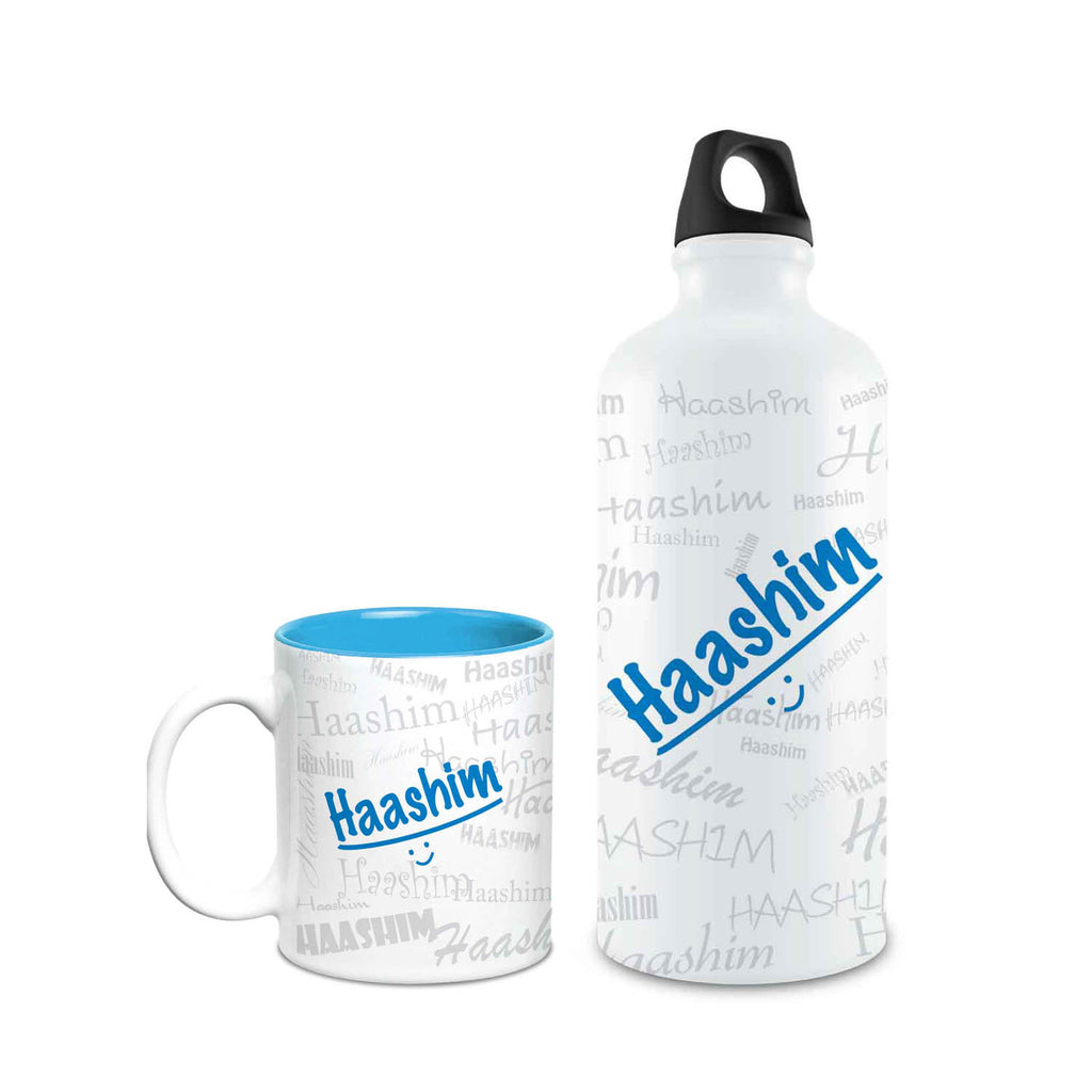 Me Graffiti Combo of Bottle & Mug - Haashim - Hot Muggs