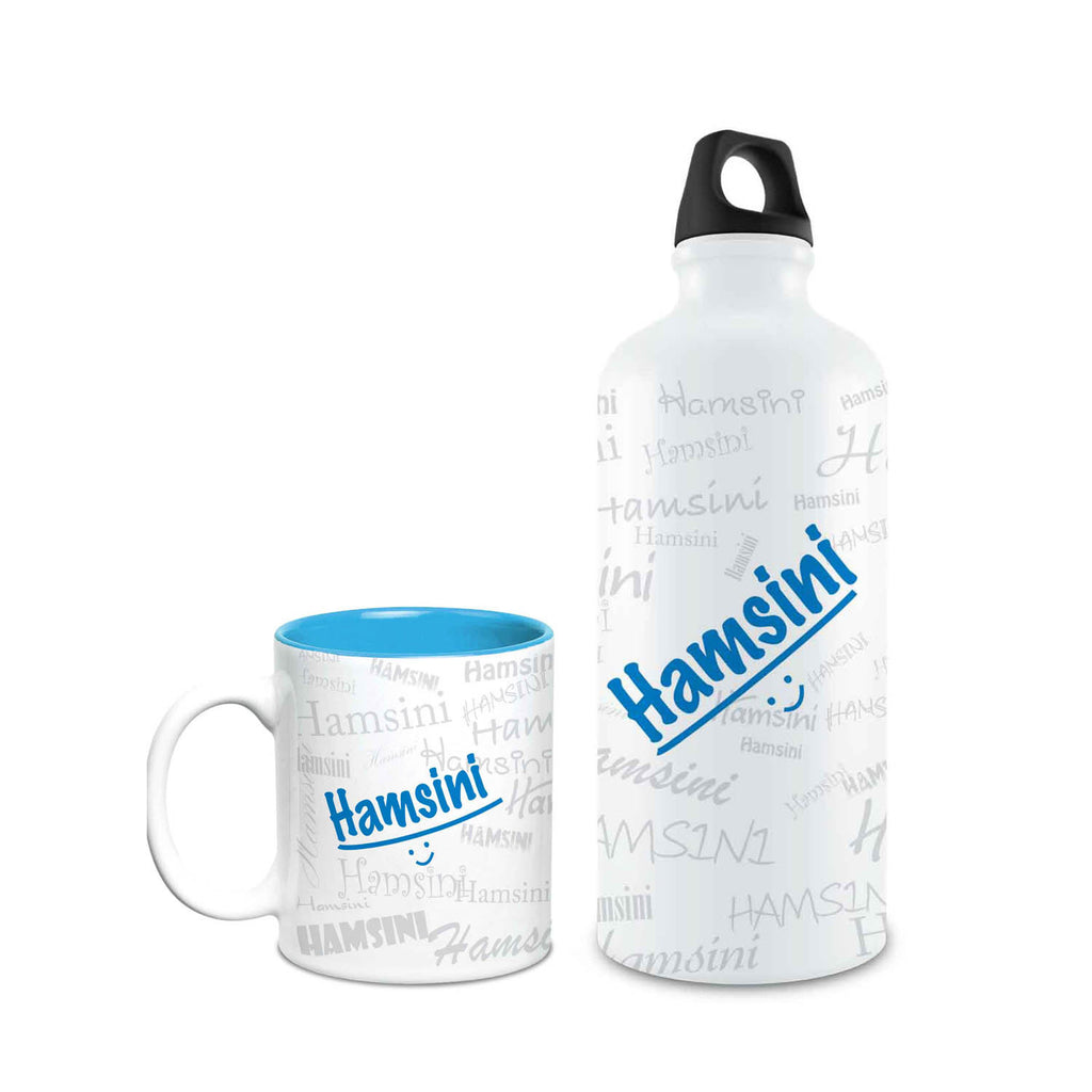 Me Graffiti Combo of Bottle & Mug - Hamsini - Hot Muggs