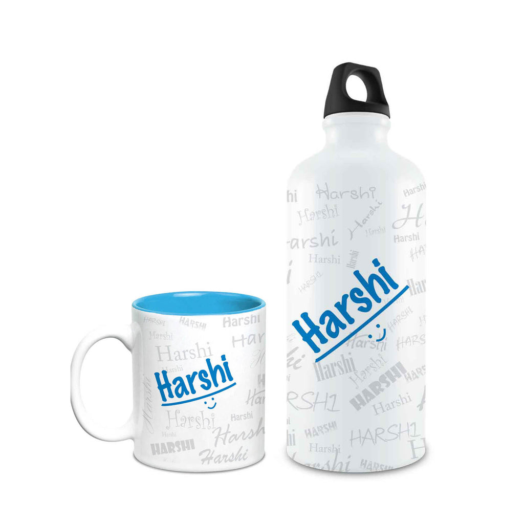 Me Graffiti Combo of Bottle & Mug - Harshi - Hot Muggs