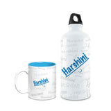 Me Graffiti Combo of Bottle & Mug - Harshini - Hot Muggs