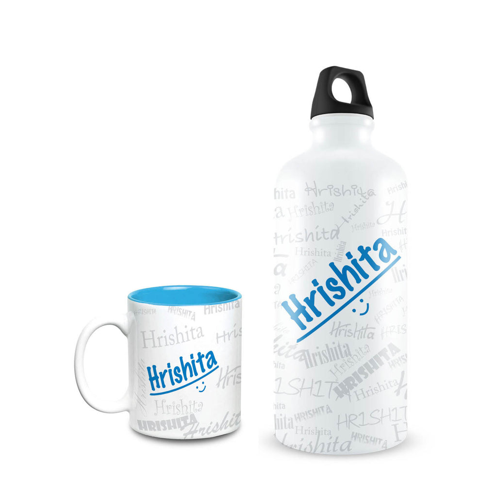 Me Graffiti Combo of Bottle & Mug - Hrishita - Hot Muggs