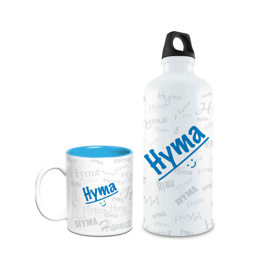 Me Graffiti Combo of Bottle & Mug - Hyma - Hot Muggs