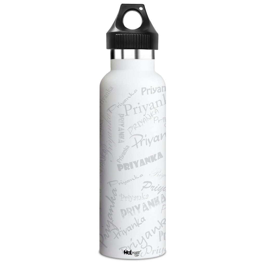 Me Insulated Graffiti Bottle - Priyanka Personalised Name , Steel, 500 ml, 1 Unit