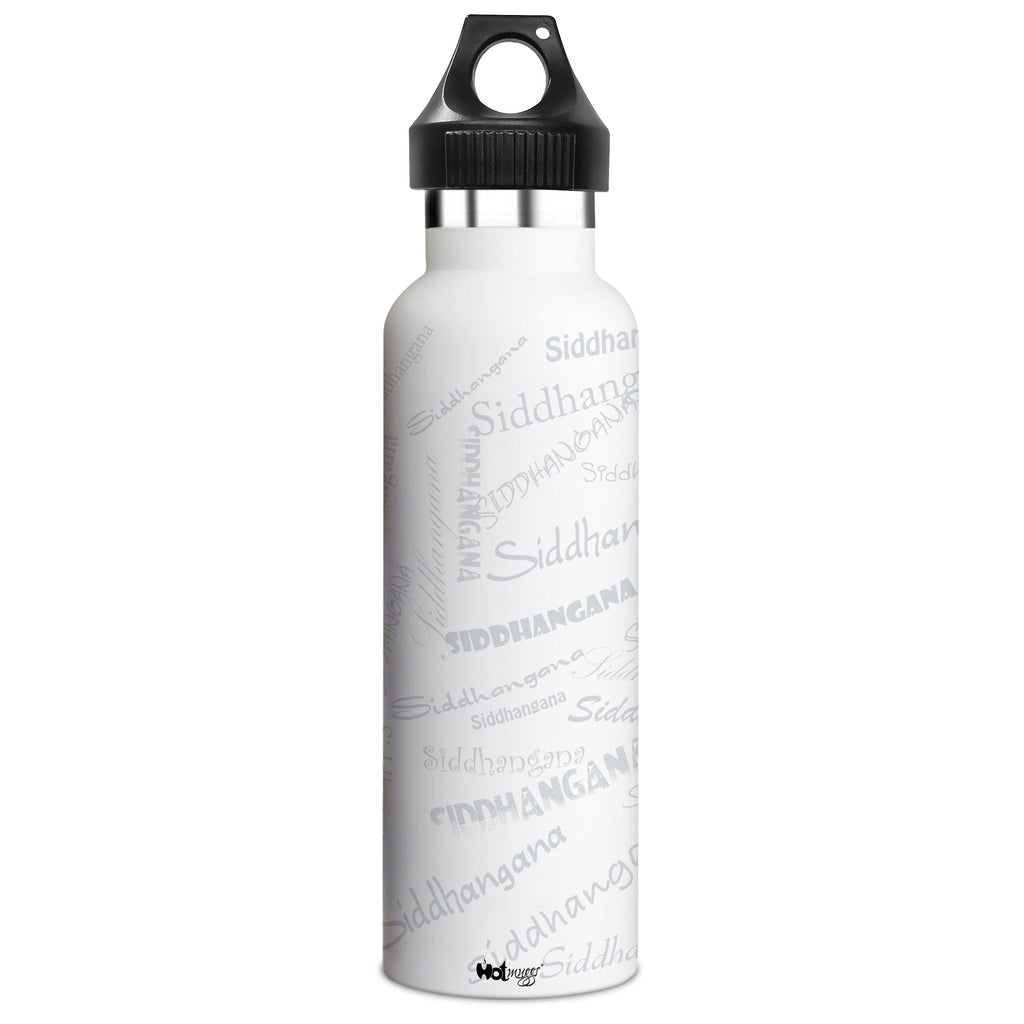 Me Insulated Graffiti Bottle - Siddhangana Personalised Name , Steel, 500 ml, 1 Unit