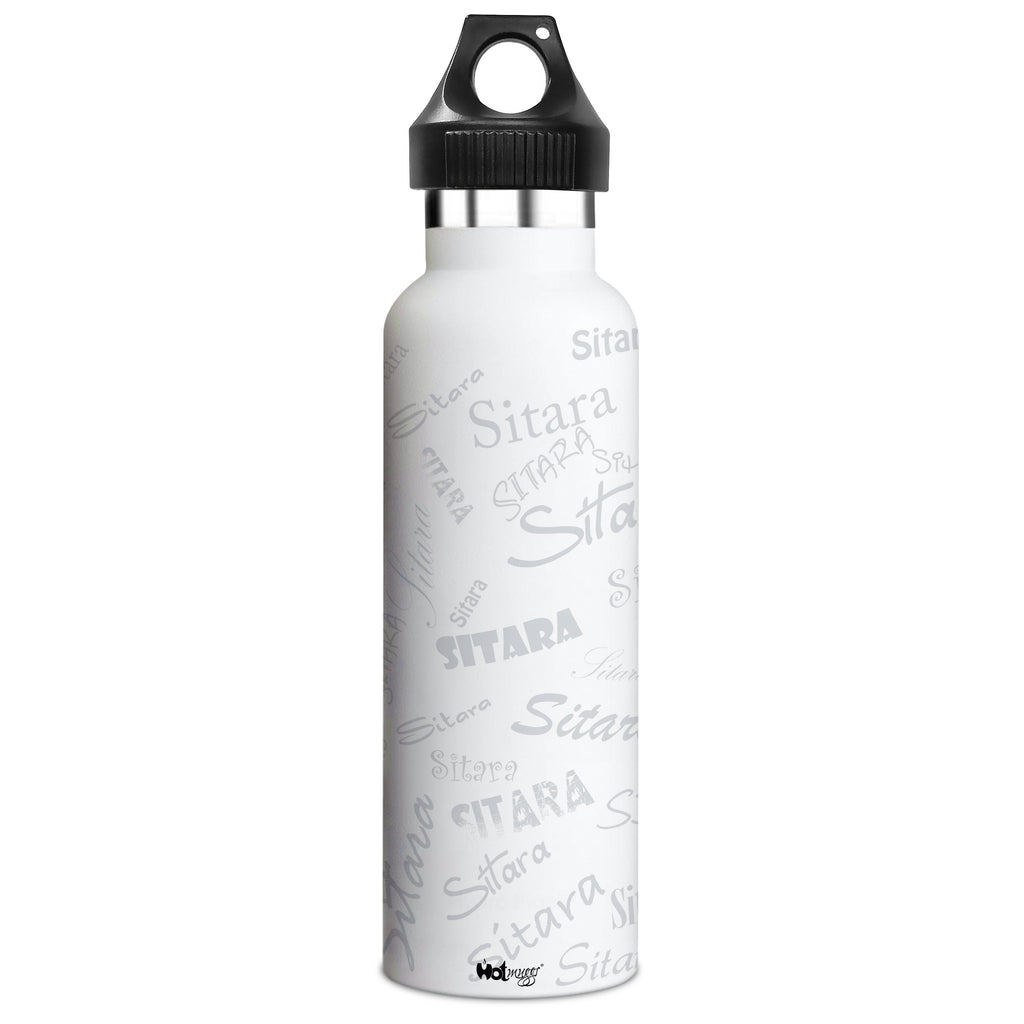 Me Insulated Graffiti Bottle - Sitara Personalised Name , Steel, 500 ml, 1 Unit