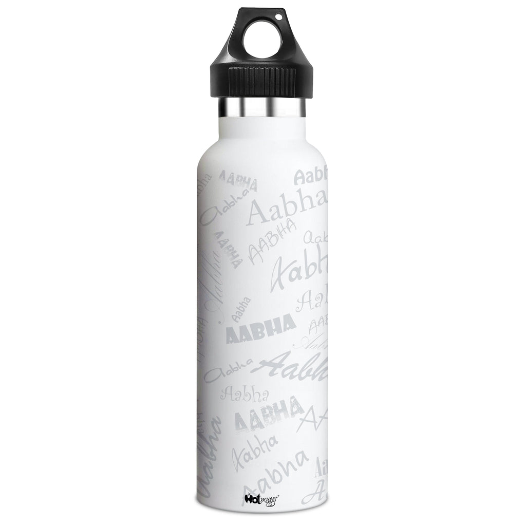 Me Insulated Graffiti Bottle - Aabha Personalised Name , Steel, 500 ml, 1 Unit