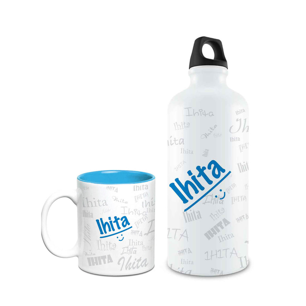 Me Graffiti Combo of Bottle & Mug - Ihita - Hot Muggs