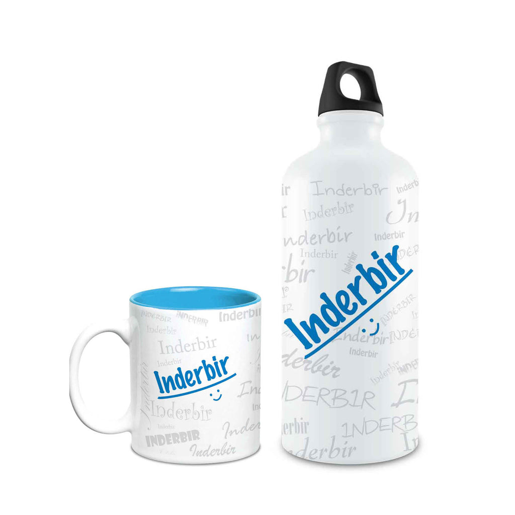 Me Graffiti Combo of Bottle & Mug - Inderbir - Hot Muggs