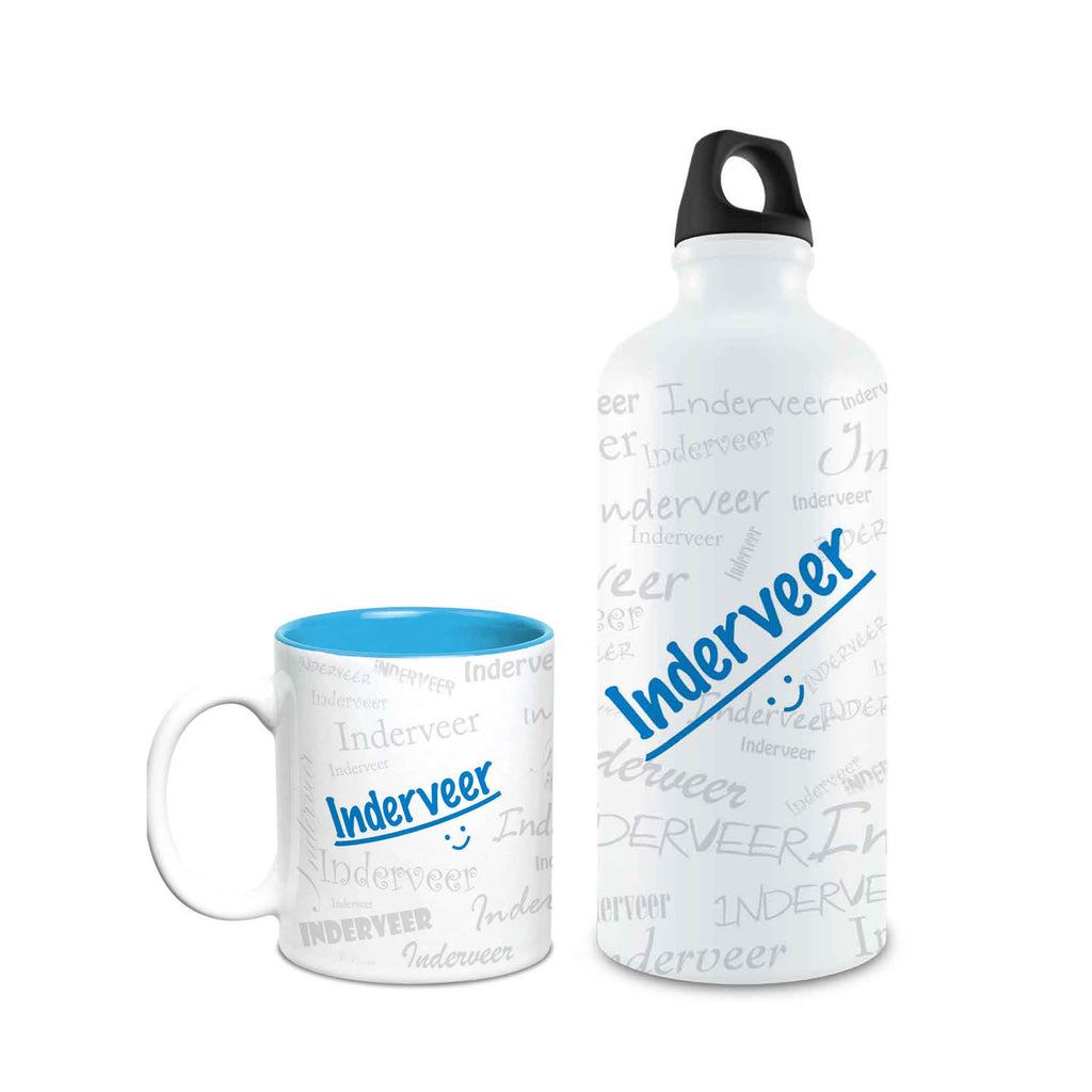 Me Graffiti Combo of Bottle & Mug - Inderveer - Hot Muggs