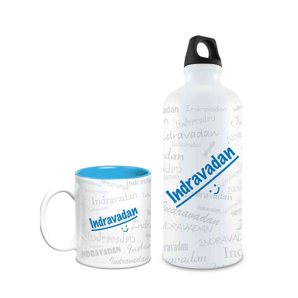 Me Graffiti Combo of Bottle & Mug - Indravadan - Hot Muggs