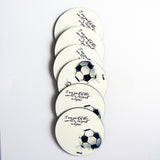 "Hot Muggs ""Soccer - Religion"" MDF (Recycled Wood) Coasters; Set of 6 - Hot Muggs - 1"