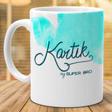 Kartik - My Super Bro Ceramic Mug, 350ml, 1 Pc