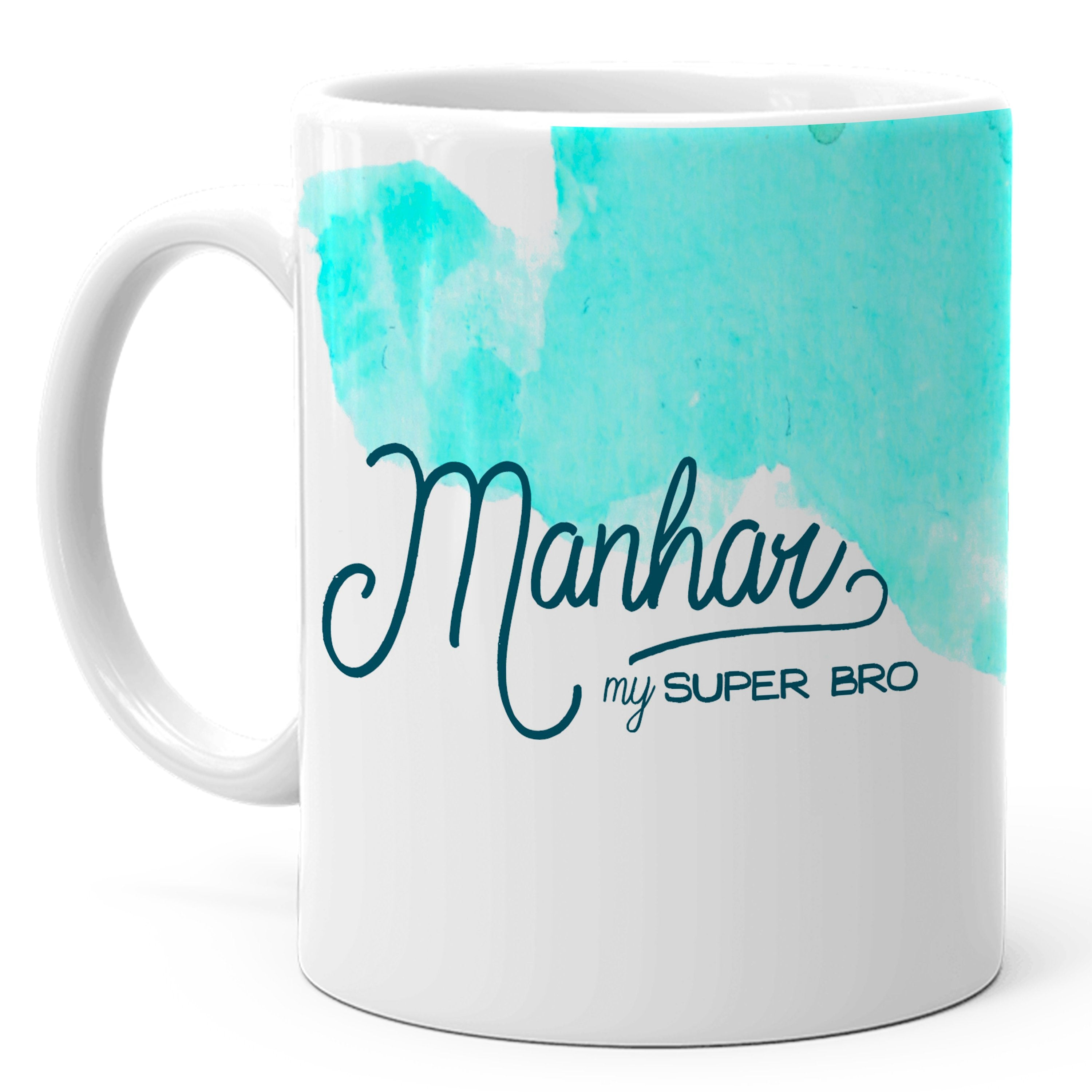 Manhar - My Super Bro Ceramic Mug, 350ml, 1 Pc