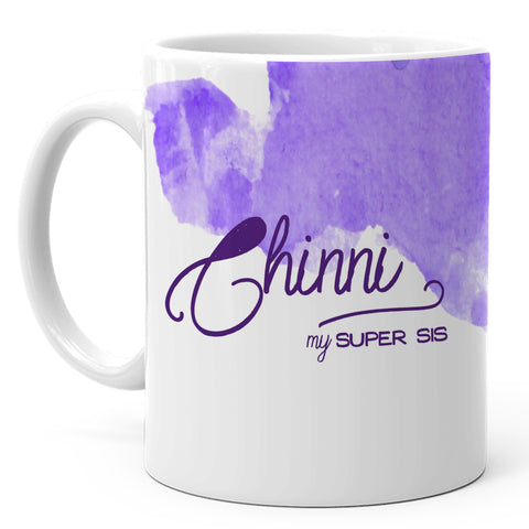 Chinni - My Super Sis Ceramic Mug, 350ml, 1 Pc