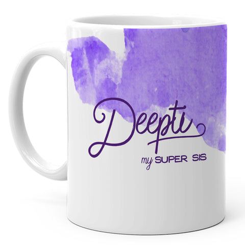 Deepti - My Super Sis Ceramic Mug, 350ml, 1 Pc