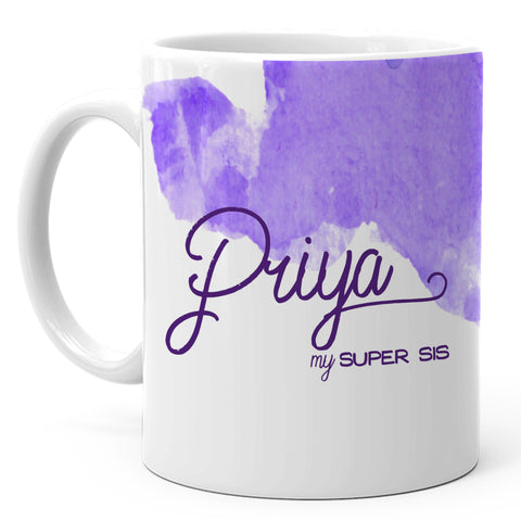 Priya - My Super Sis Ceramic Mug, 350ml, 1 Pc