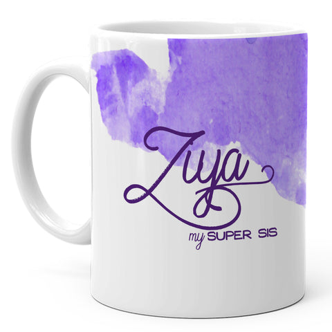 Ziya - My Super Sis Ceramic Mug, 350ml, 1 Pc