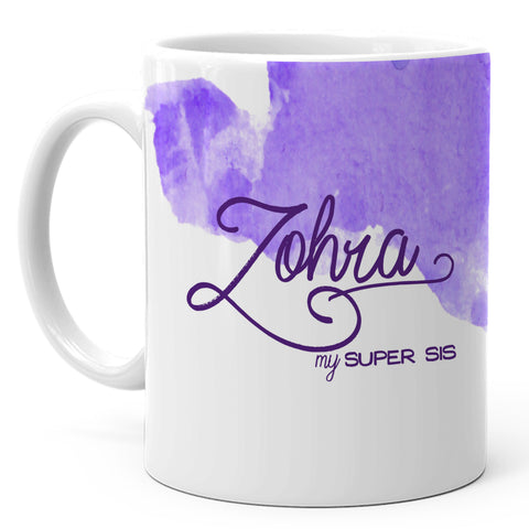 Zohra - My Super Sis Ceramic Mug, 350ml, 1 Pc