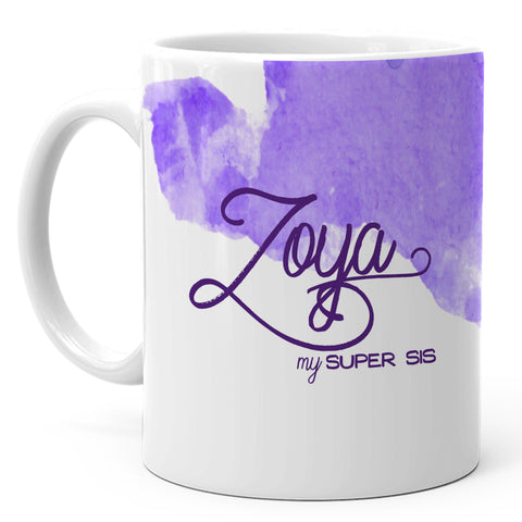 Zoya - My Super Sis Ceramic Mug, 350ml, 1 Pc