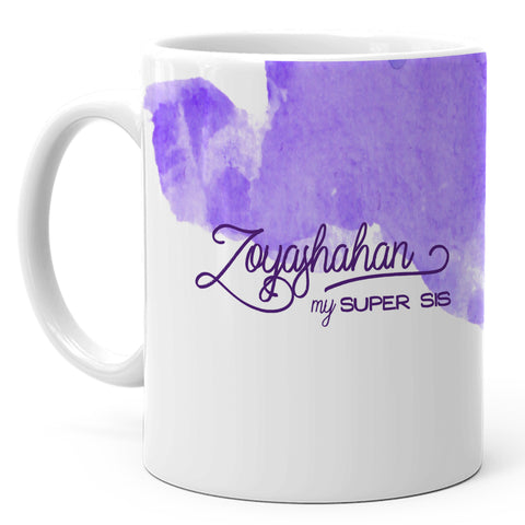 Zoyashahan - My Super Sis Ceramic Mug, 350ml, 1 Pc