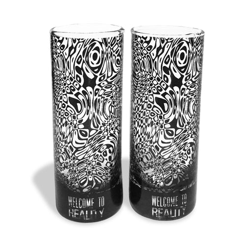 Warped Shooter Glass  -  (Set of 2) - Hot Muggs