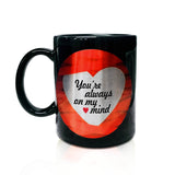 Love Ribbons Mug - Always On My Mind - Hot Muggs