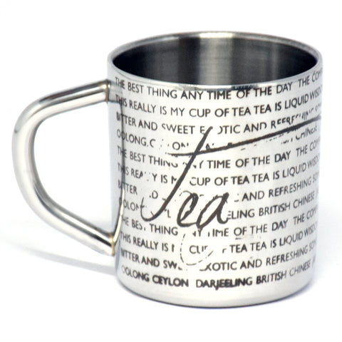 For the Love of Tea Stainless Steel Double Walled Mug