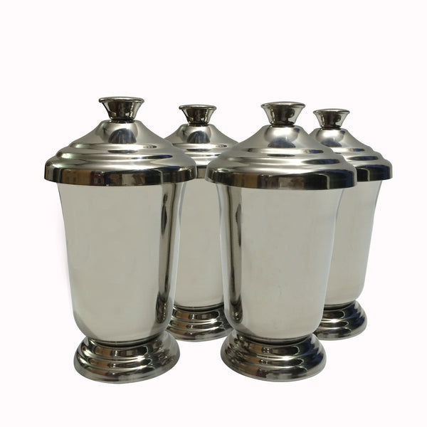 Maharaja Stainless Steel Glass Set of 4 - Hot Muggs - 1