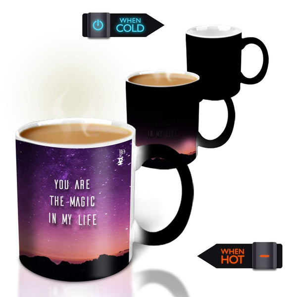 Hot MuggsYou're the Magic… Aishita Magic  Color Changing Ceramic Mug 315ml, 1 Pc