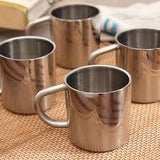 Hot Muggs Swirls n Twirls Stainless Steel Double Walled Mug 200ml, 4 Pc - Hot Muggs - 1