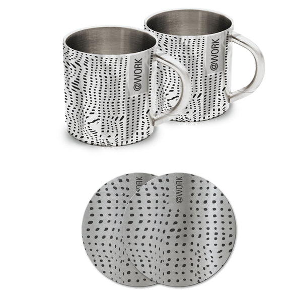 Swiss Dots (Set of 2 Mugs + 2 Coasters) - Hot Muggs - 1