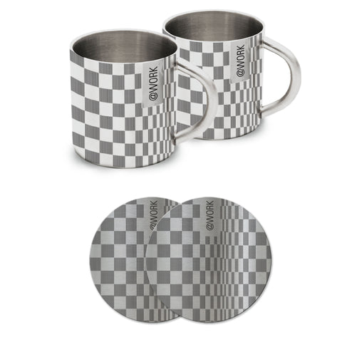 New York Stripes (Set of 2 Mugs + 2 Coasters) - Hot Muggs - 1