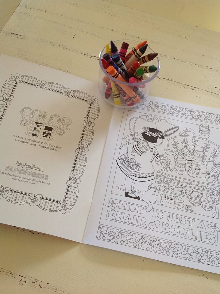 we have lots of other things coming soont shirts mugs stickers and of course more cardsanything we can have made here in the usa - Mary Engelbreit Coloring Book