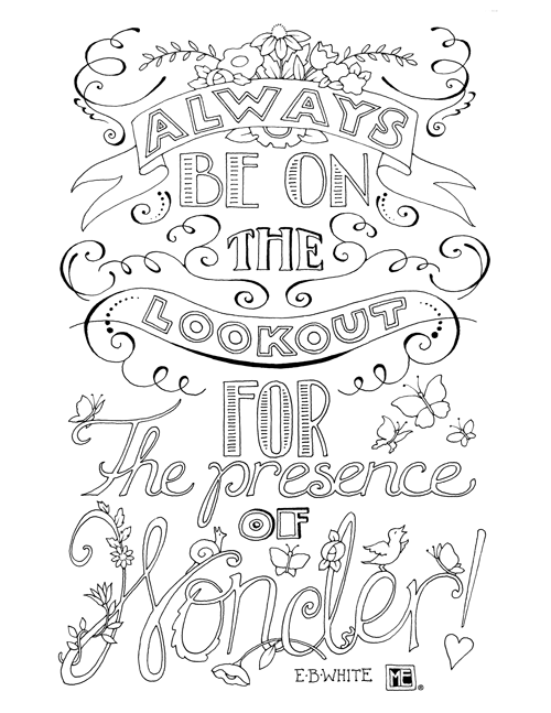 - Lookout For Wonder Coloring Page – Mary Engelbreit