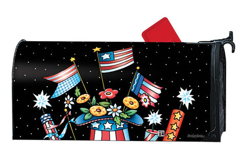 Patriotic Hat Mailbox Cover