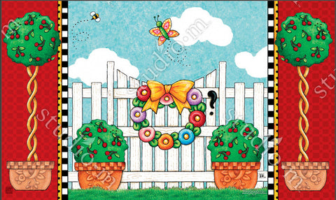 Topiary Gate Welcome Mat
