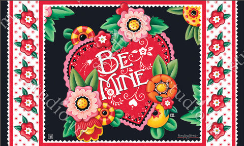 Valentine Be Mine Welcome Mat